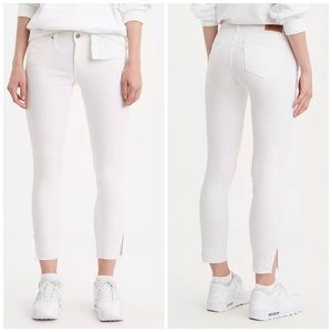 NEW Levi's 711 Skinny Studded Ankle White Jeans